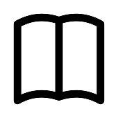 open book Thin Line Vector Icon