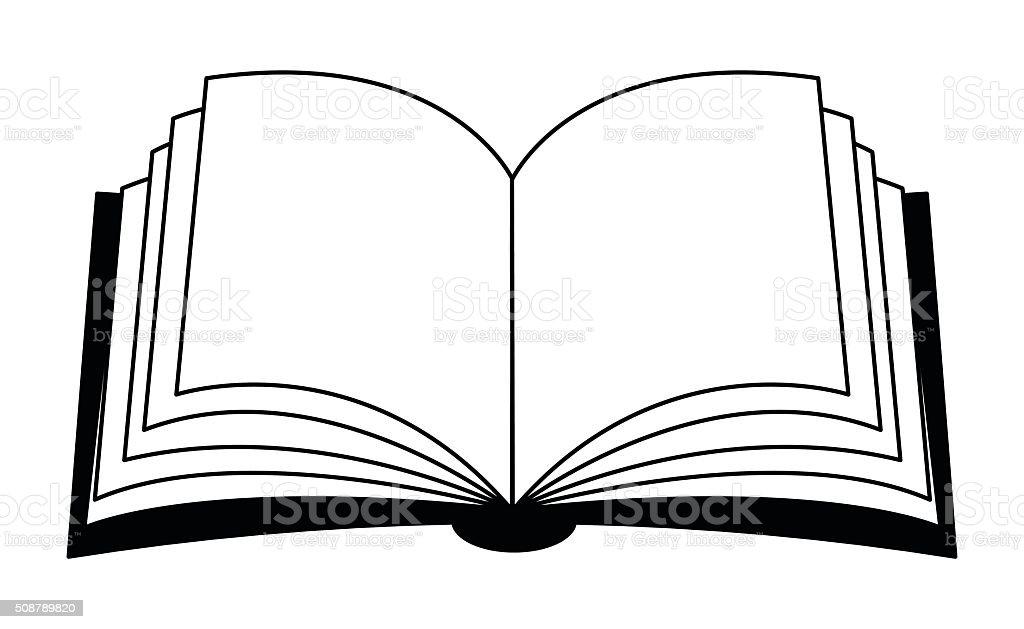 Open book vector clipart, symbol, icon  design. vector art illustration