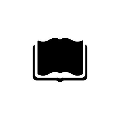 Open book vector icon. Isolated open book flat emoji, emoticon symbol - Vector