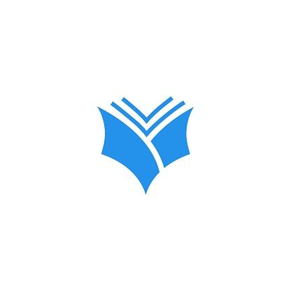 Open book. Vector icon template