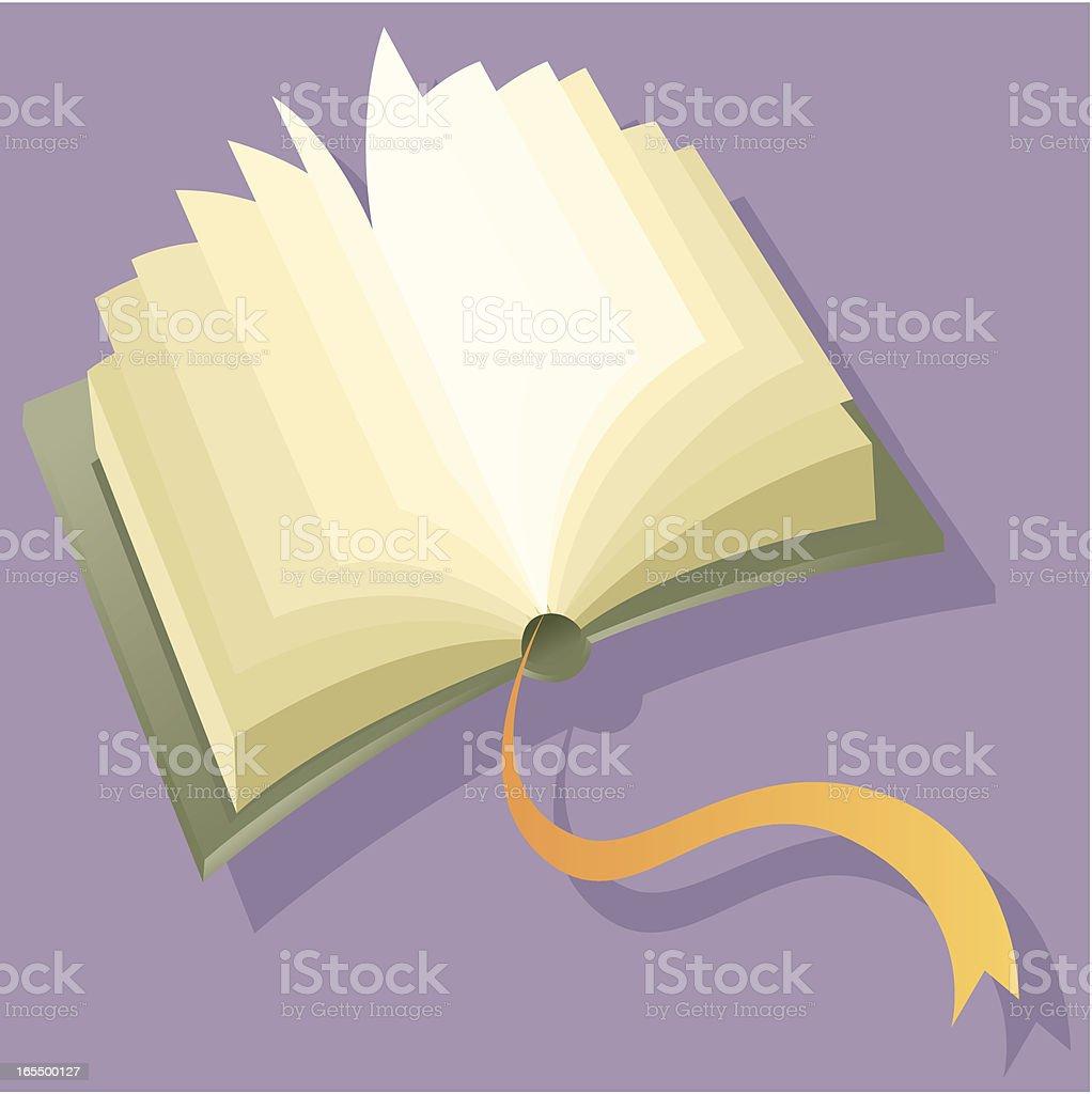 Open book royalty-free stock vector art
