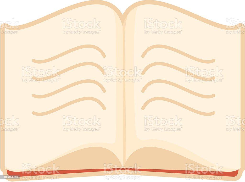 open book vector art illustration