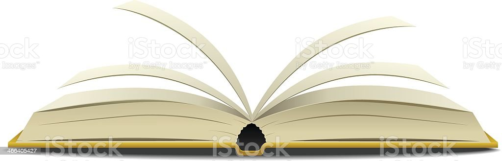 Open book vector art illustration