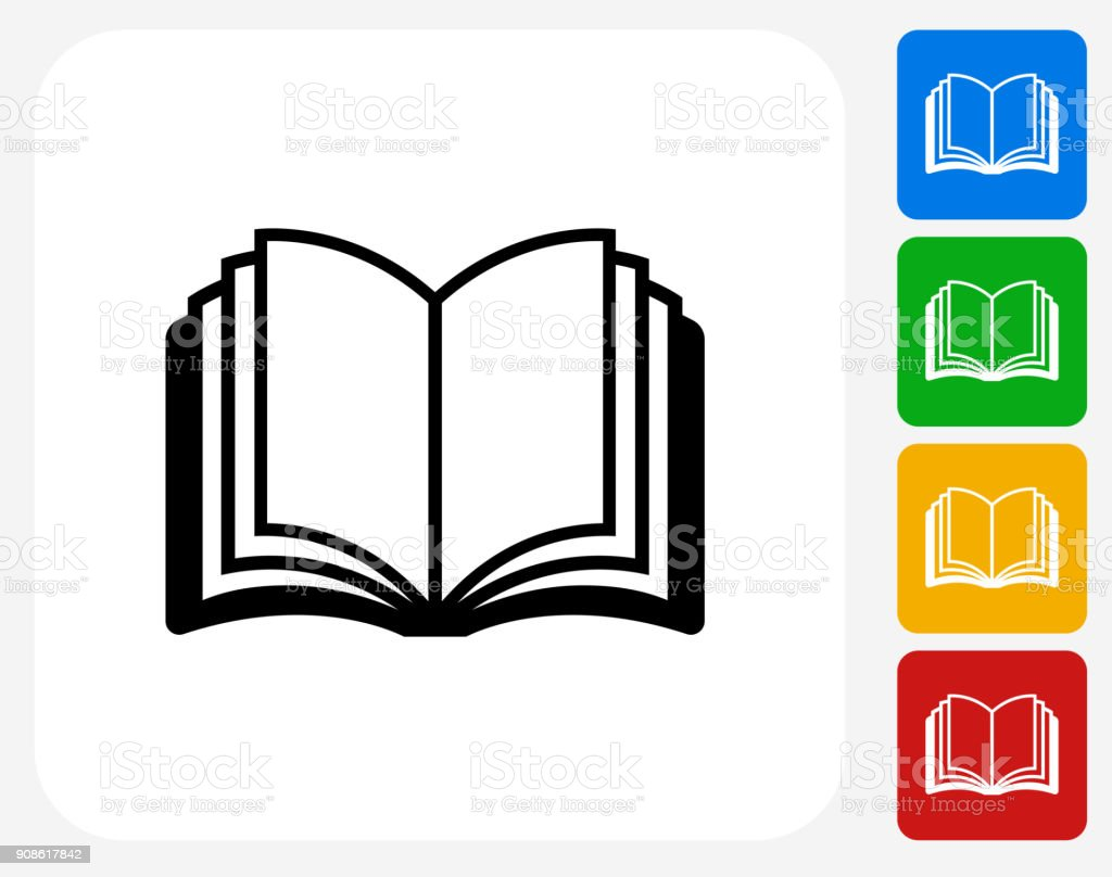 Open Book. vector art illustration