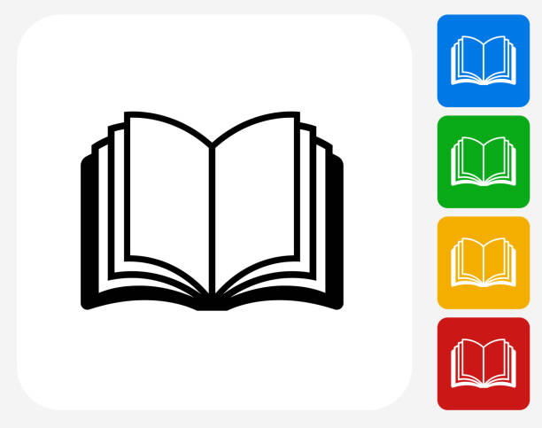 open book. - book icons stock illustrations