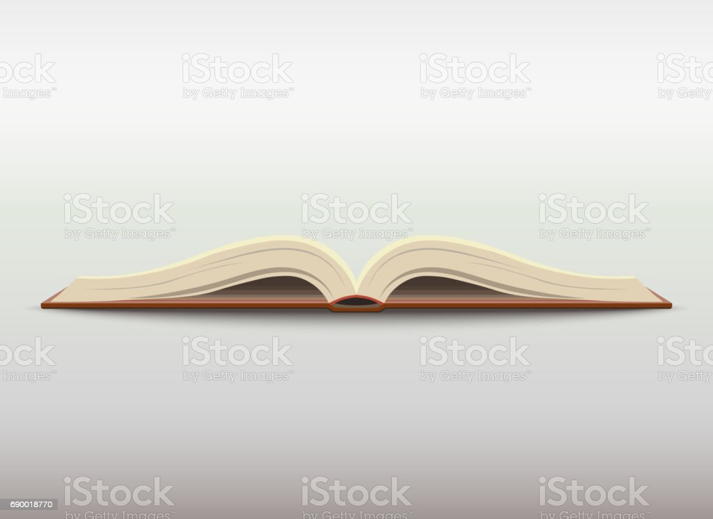 Open book. vector vector art illustration