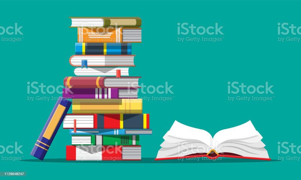 Livro aberto com um de cabeça para baixo páginas - Vetor de Aberto royalty-free