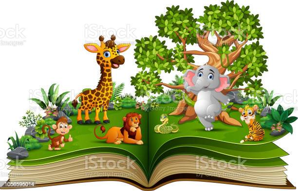 Open book with animal cartoon playing in the park under a big tree vector id1056595014?b=1&k=6&m=1056595014&s=612x612&h=s4i0yumn373hgnkcsaxvcyspltaadfcelll 8rdb2ea=