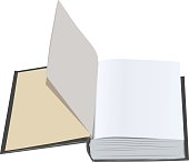 Open book with blank first pages