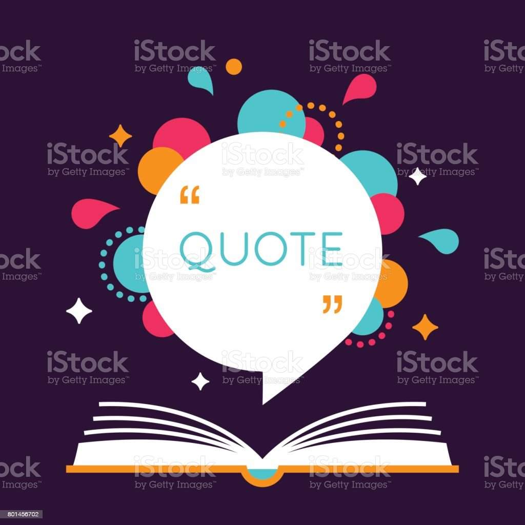 Open Book With Space For Quote Stock Vector Art More Images Of