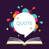 Open Book with Space for Quote