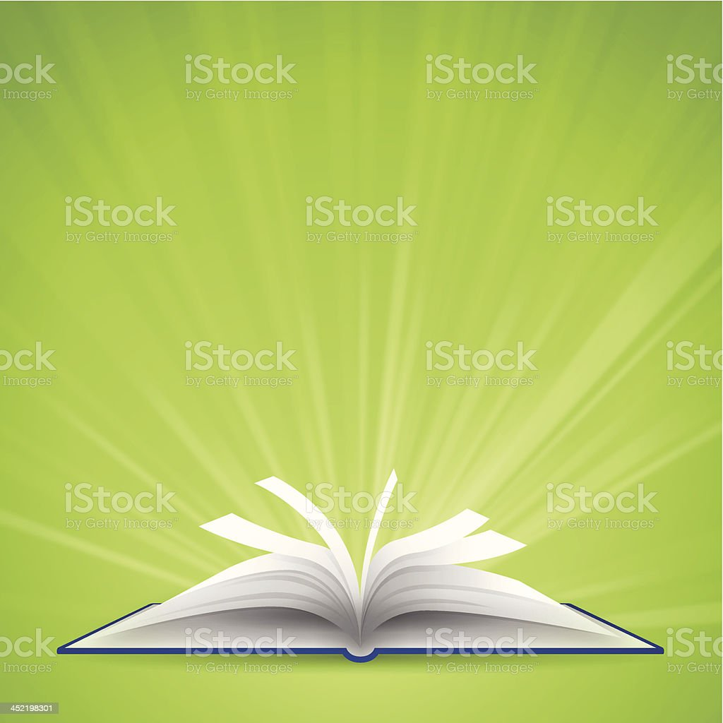 Open Book with Space for Text vector art illustration