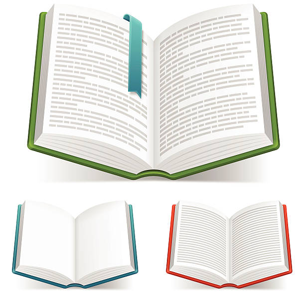 Open Books Open books with space for copy. EPS 10 file. Transparency effects used on highlight elements. encyclopaedia stock illustrations