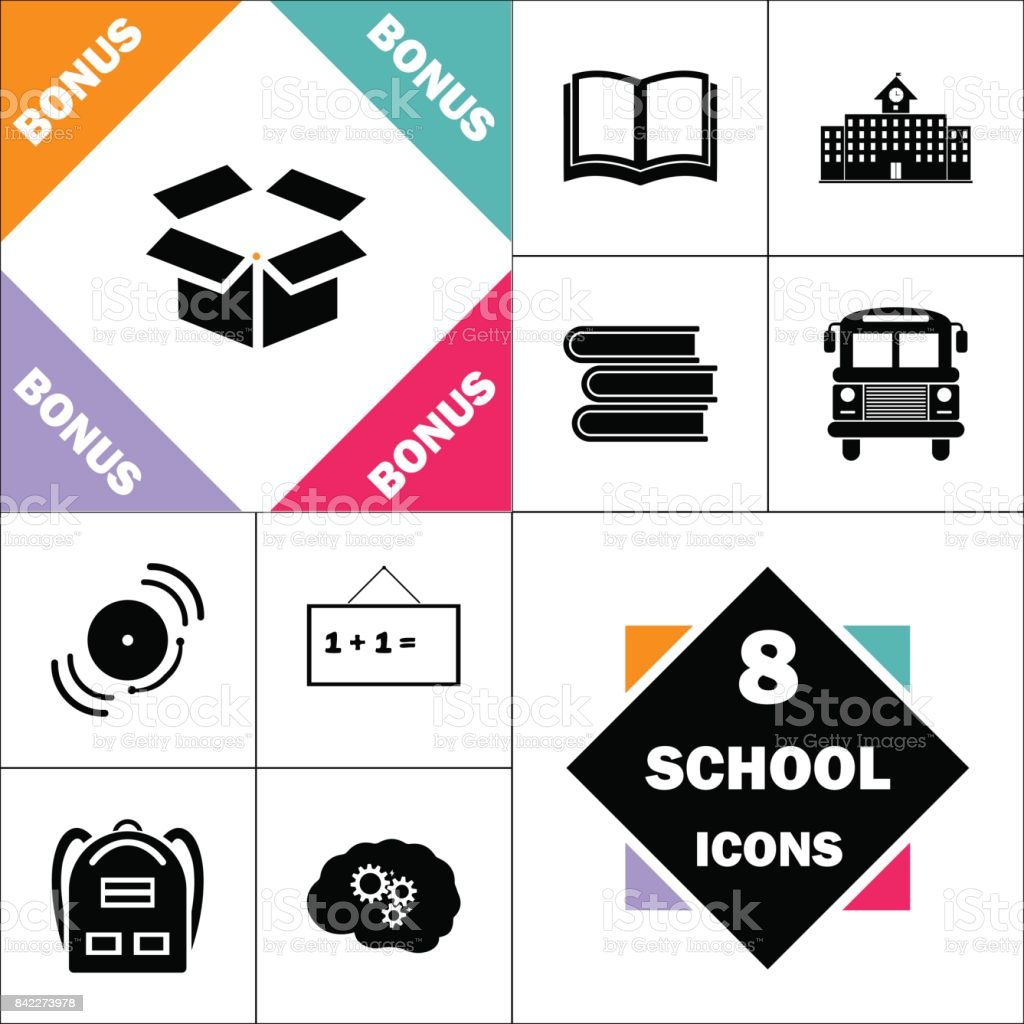 Open Box Computer Symbol Stock Vector Art More Images Of Backpack
