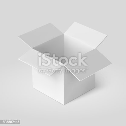 Open Box Template Stock Vector Art More Images Of