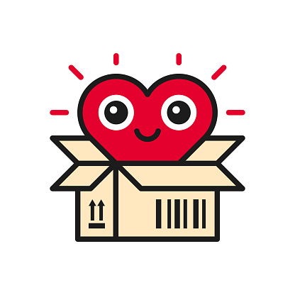 Open box with heart