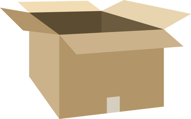 Open cardboard 4 This is a vector illustration. cardboard box stock illustrations