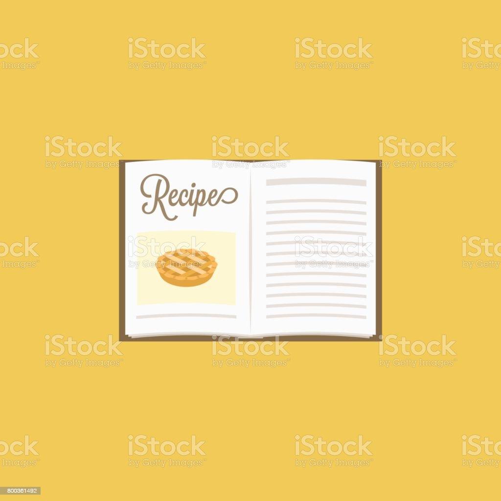 open cooking book vector art illustration