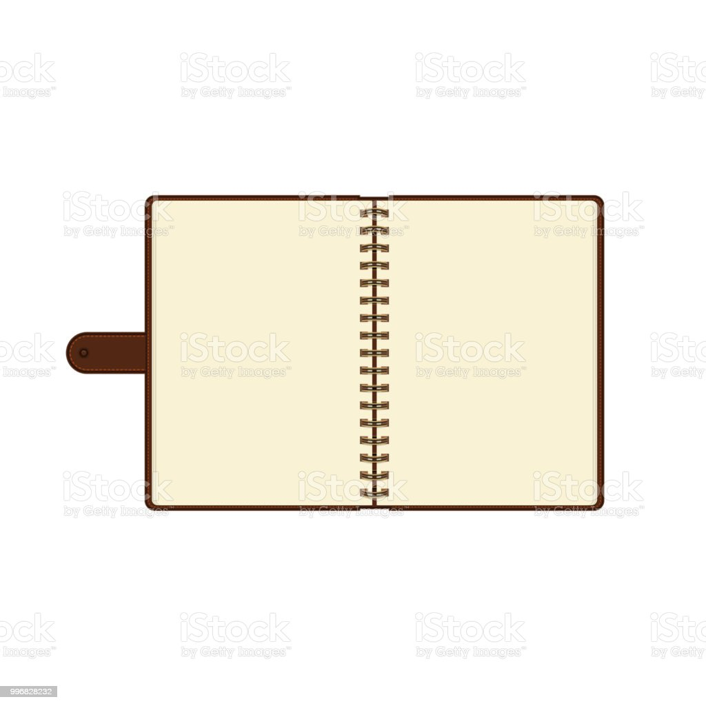 Pages 828 Wiring Library Club Car Xrt 1550 Diagram Open Diary Or Personal Organizer With Empty Isolated On White Background Daily Planner