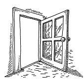 Open Door Drawing
