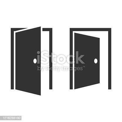 istock Open Door Icon Vector Design. 1216255150
