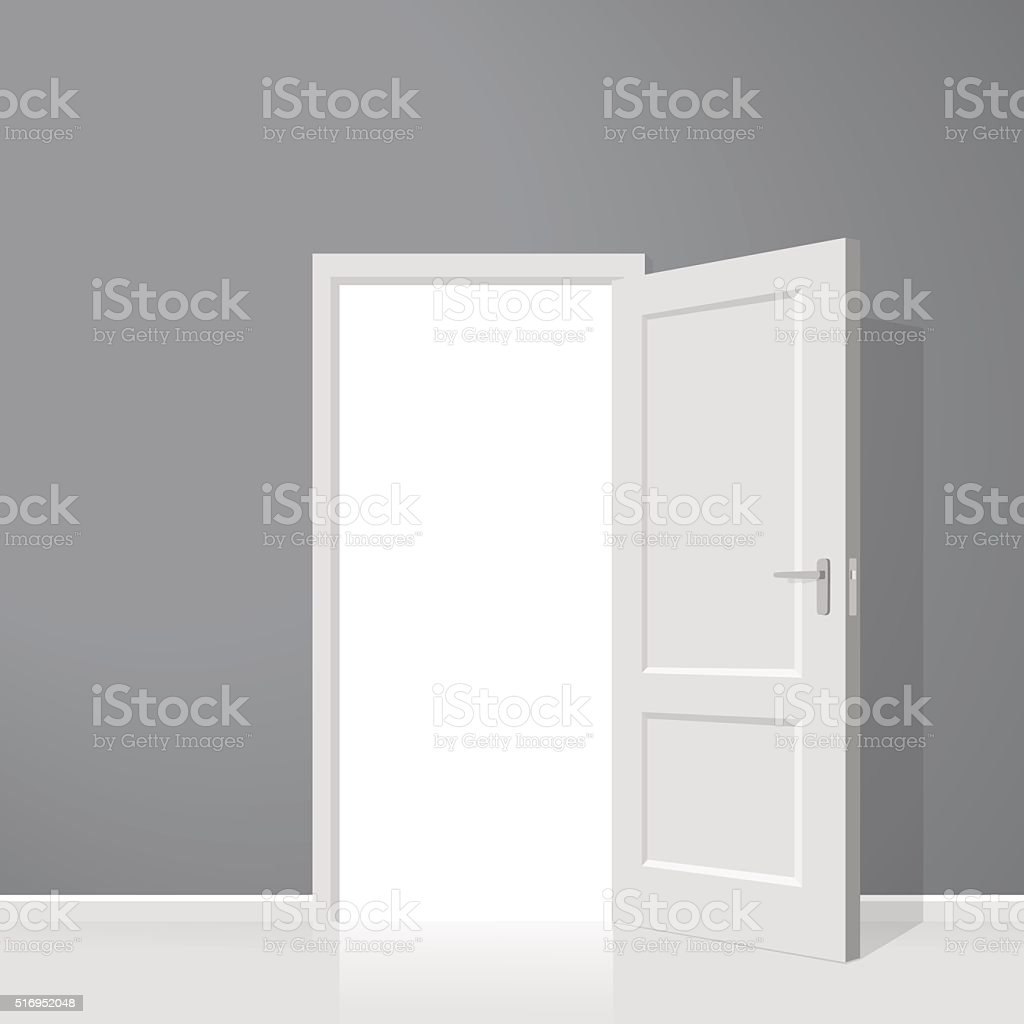 Open door. Realistic vector illustration vector art illustration