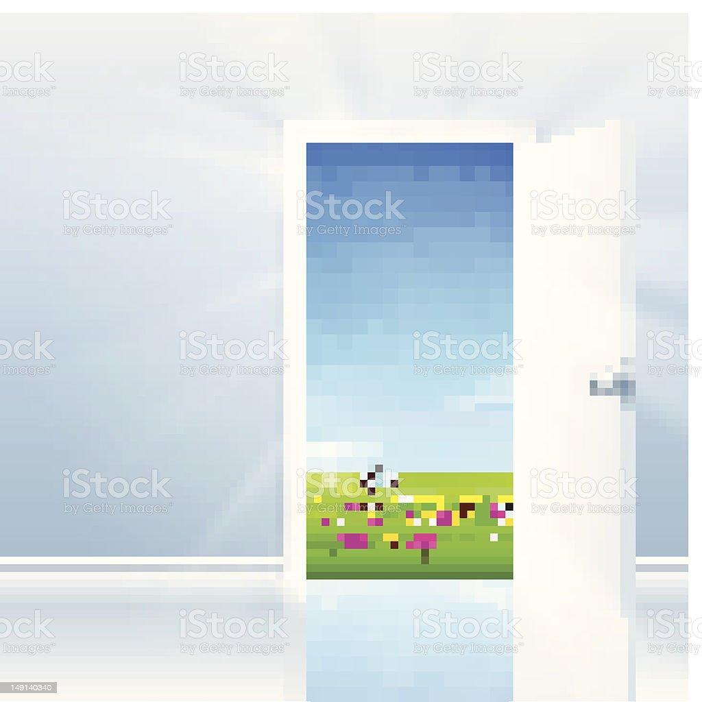 Open Door To Nature royalty-free stock vector art