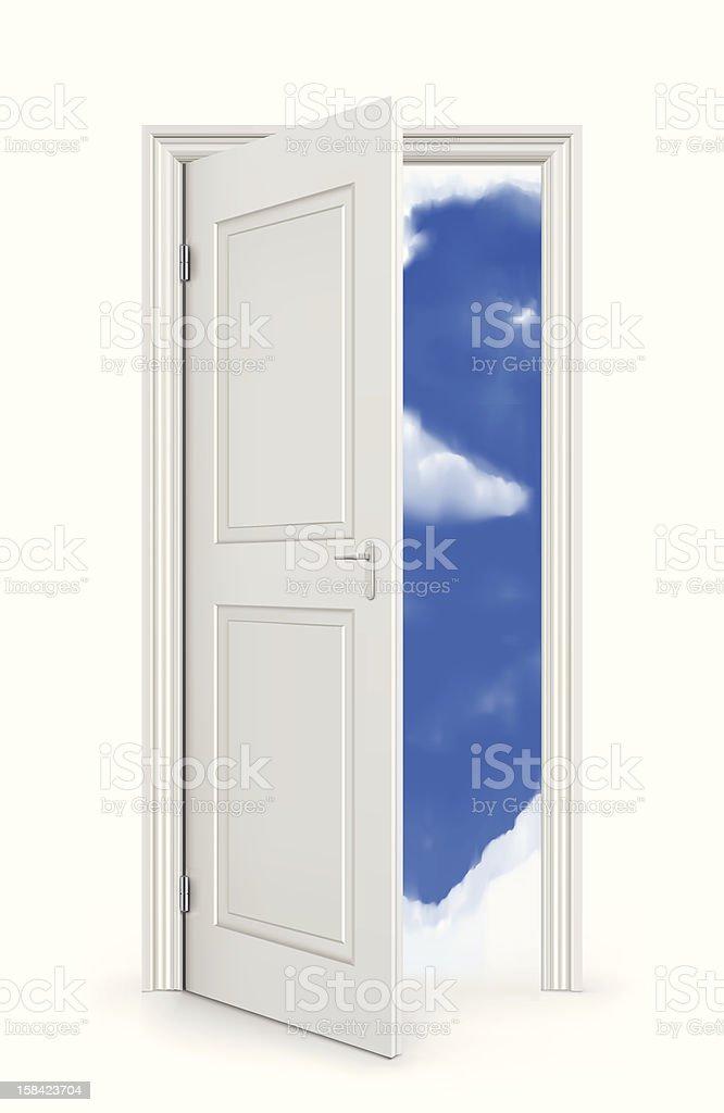 Open Door To Sky royalty-free stock vector art
