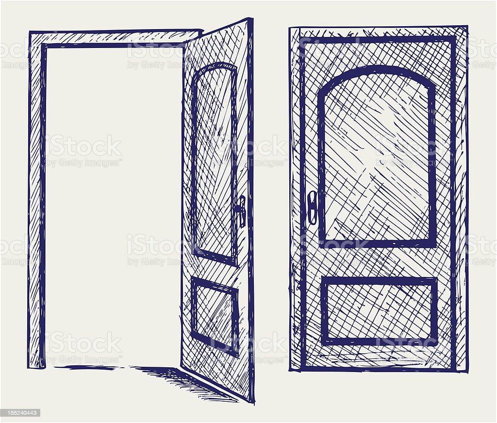 open door drawing. Open Door Royalty-free Stock Vector Art \u0026amp; More Images Of Abstract Drawing