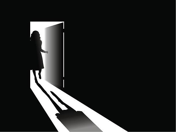 Open door !!! vector art illustration