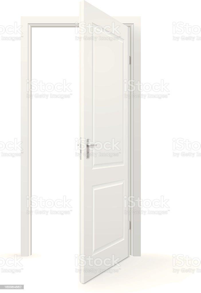 Open door royalty free open door stock vector