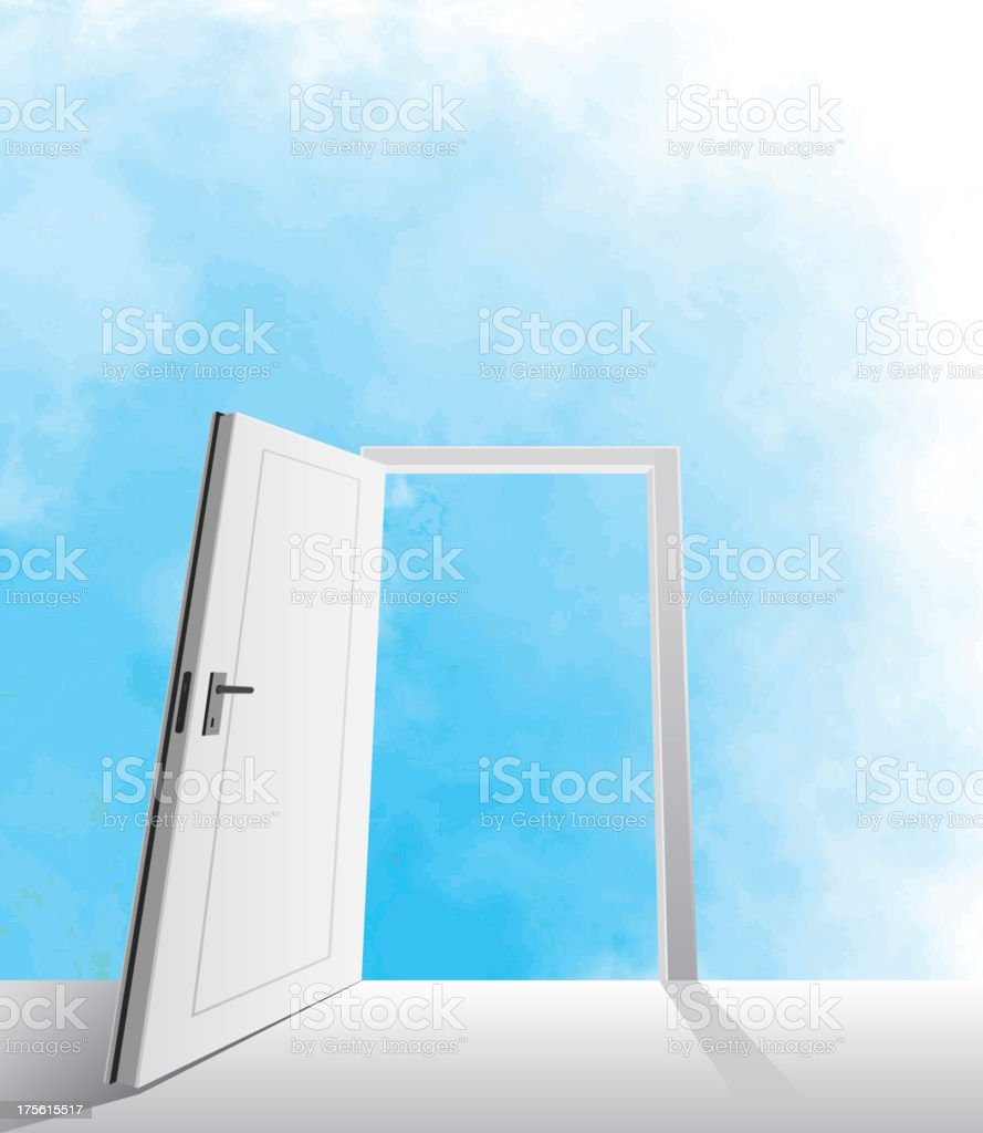 open door royalty-free open door stock vector art & more images of blue