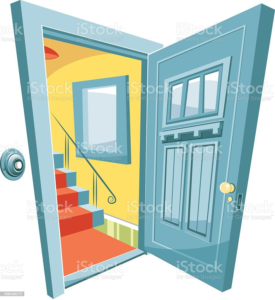 open front door clipart. open door vector art illustration front clipart