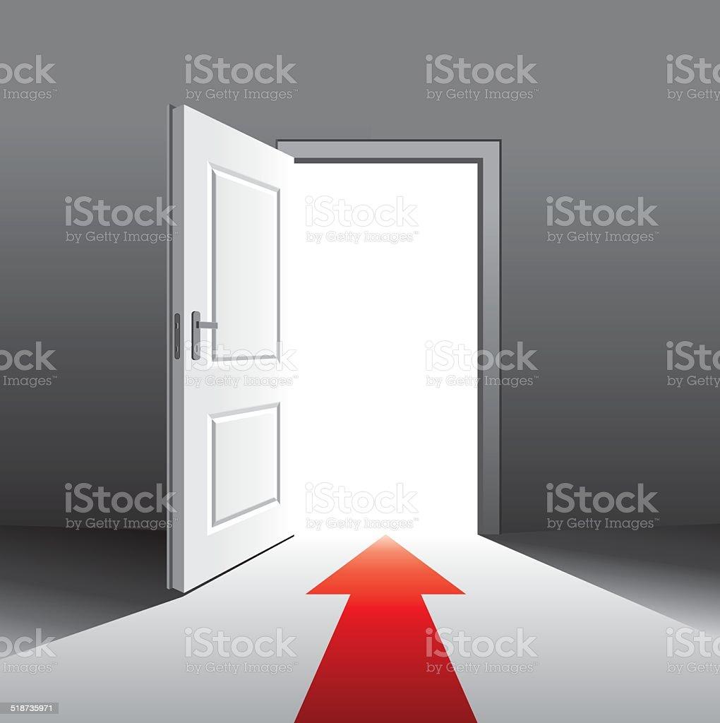 open front door illustration plain open door vector art illustration royalty free front door clip art vector images illustrations