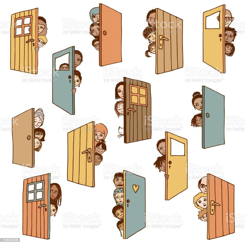 Open doors royalty-free open doors stock vector art & more images of accessibility