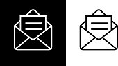 Open Email Envelope Icon
