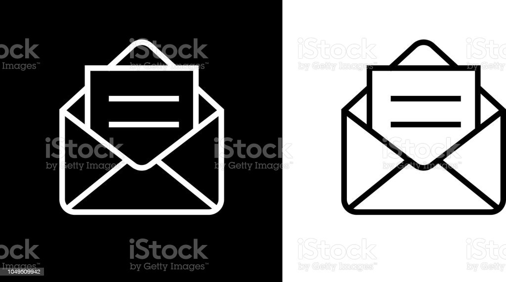 Open Email Envelope Icon vector art illustration
