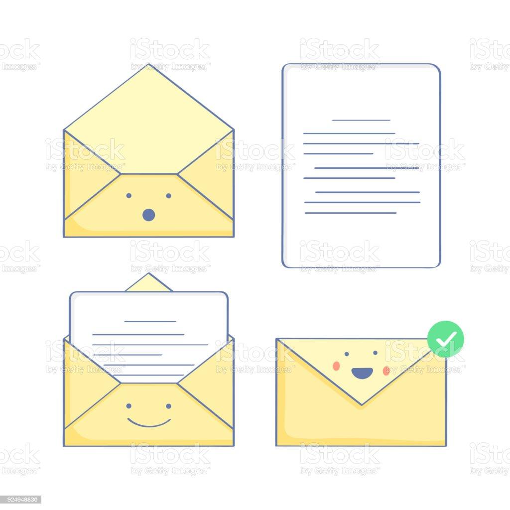Open Envelope Send Letter Open Email Stock Vector Art More Images