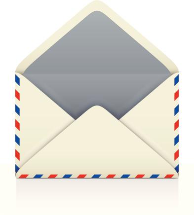 Open Envelope Stock Illustration - Download Image Now - iStock