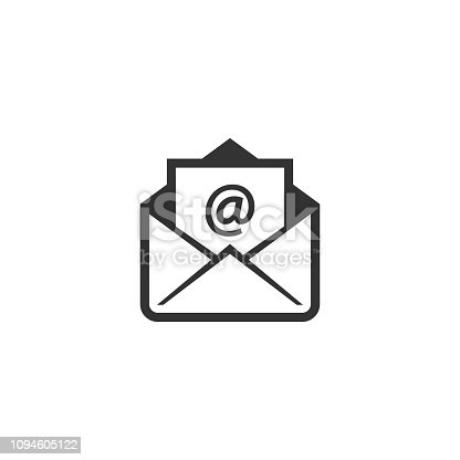 istock Open envelope with at sign letter vector icon. 1094605122
