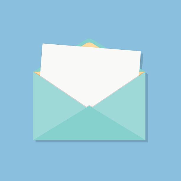 Offene Umschlag mit weißen Blatt – Vektorgrafik