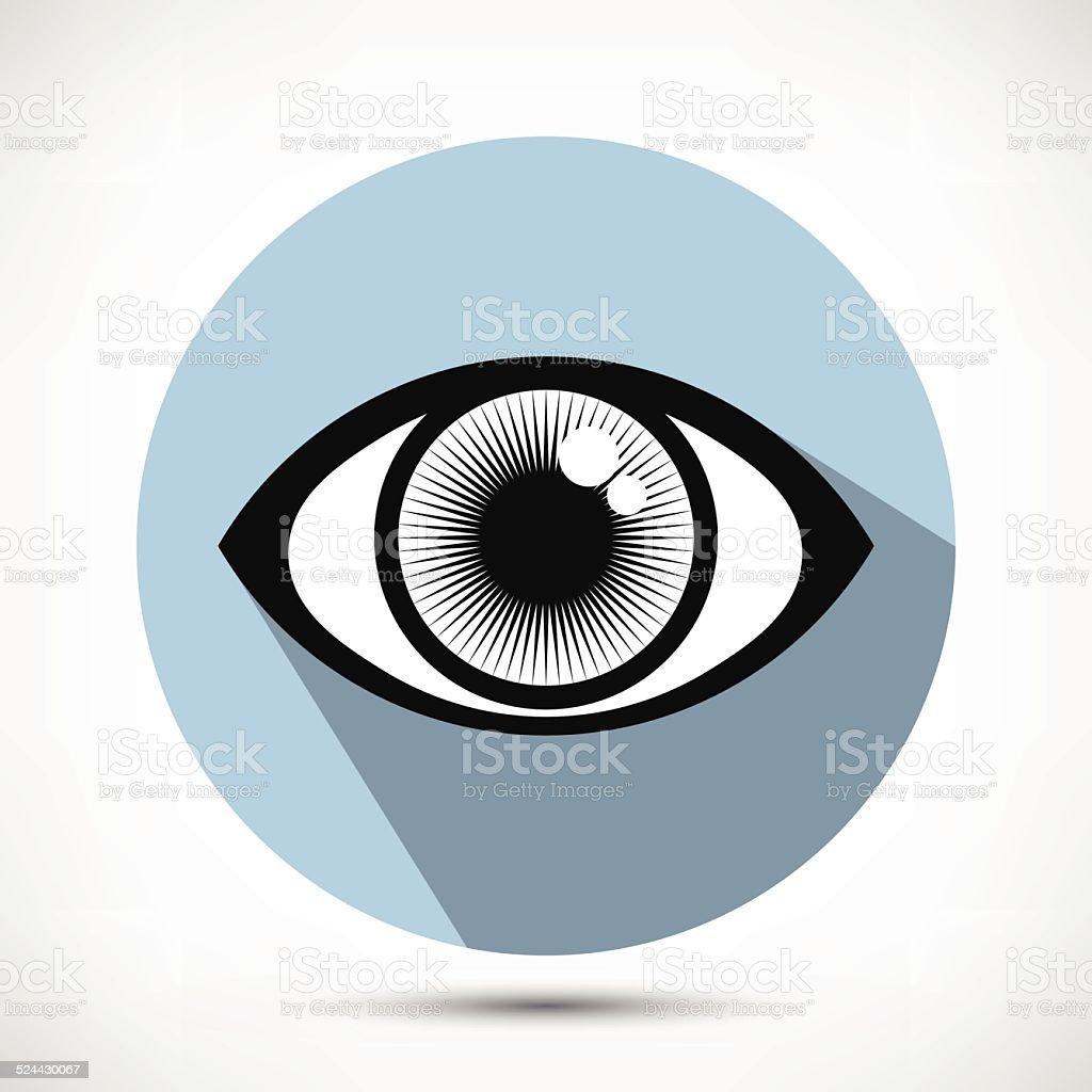 Open Eye Icon vector art illustration