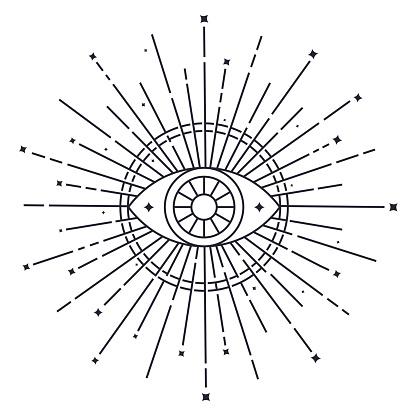 Open eye psychic symbol.