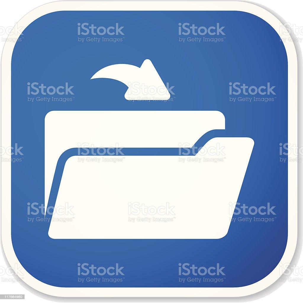 open folder sq sticker royalty-free stock vector art