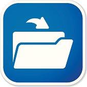 open folder sq sticker