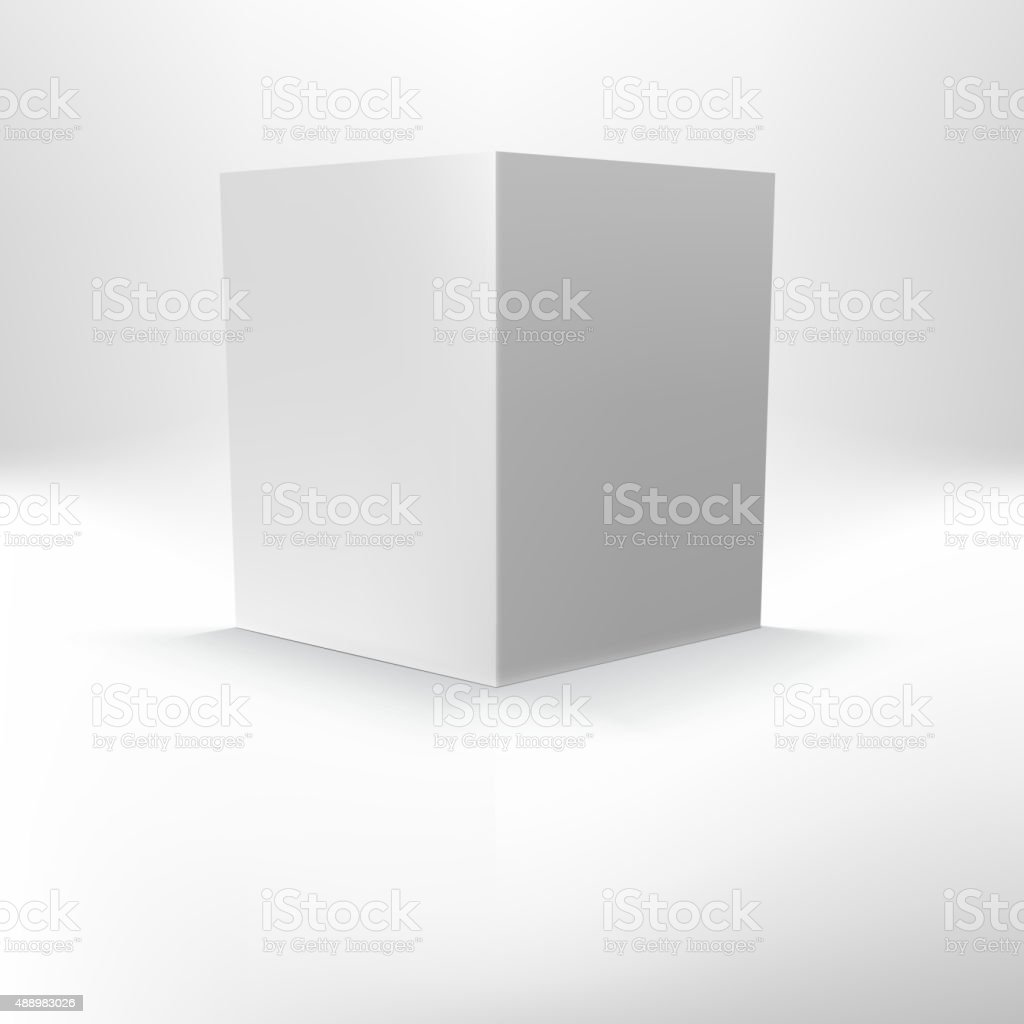 Open folder template standing vector art illustration