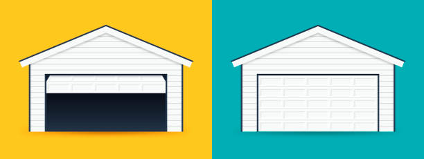 Royalty Free Garage Door Open Clip Art Vector Images