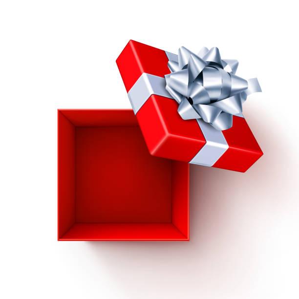 offene geschenkbox - weihnachtsgeschenk stock-grafiken, -clipart, -cartoons und -symbole