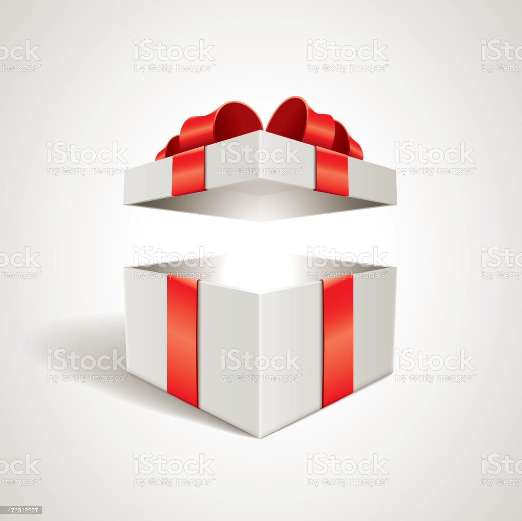 Open gift box vector art illustration