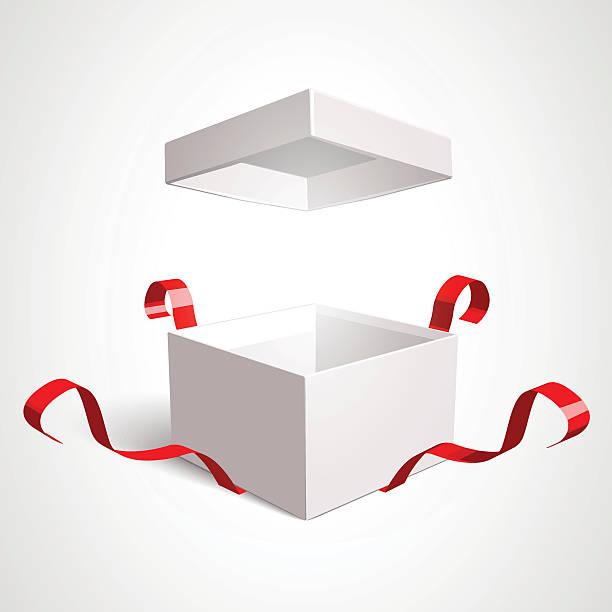 offene geschenk-box - entdeckungskiste stock-grafiken, -clipart, -cartoons und -symbole
